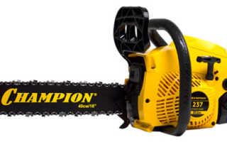 Бензопила Champion 237: характеристики, описание, эксплуатация и техника безопасости