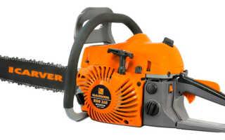 Цепная бензопила Carver RSG-246:описание, характеристики и правила использования
