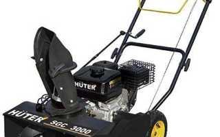 Обзор снегоуборщика Huter SGC 3000. Характеристики, обслуживание