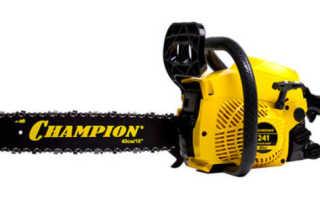 Бензопила Champion 241-16: технические характеристики, описание и правила эксплуатации