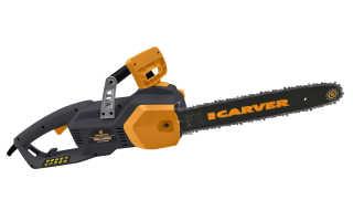 Цепная электропила Carver RSE-2400 М: описание, характеристики и правила использования